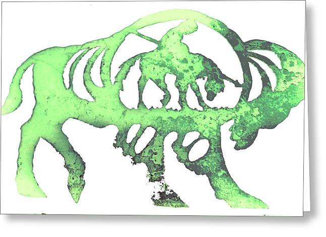 Copper Buffalo Greeting Card by Larry Campbell