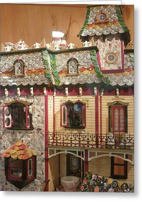 Coin Pictures Greeting Cards - Copper Doll House Greeting Card by Florene Welebny