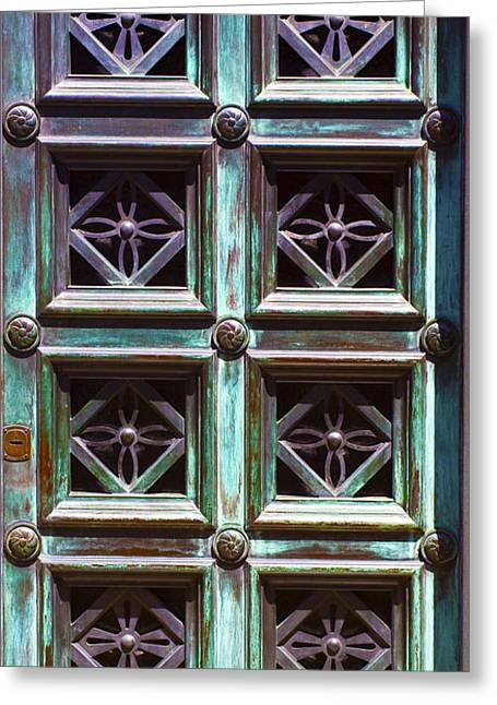 Copper Door Greeting Card by Rob Tullis