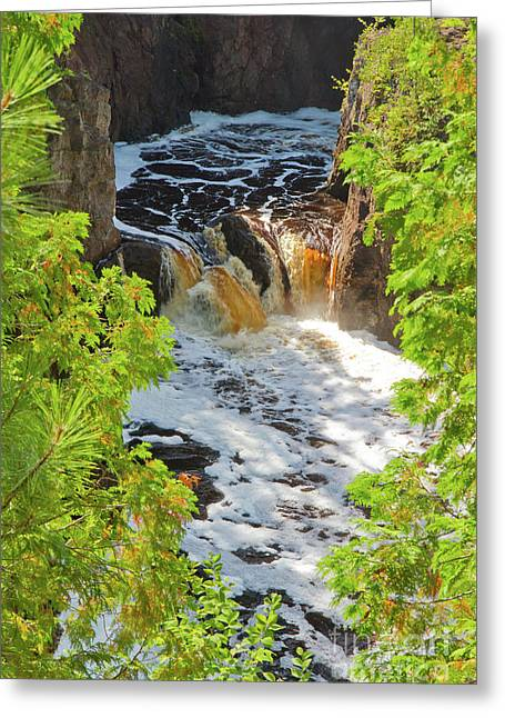 Copper Falls Greeting Card