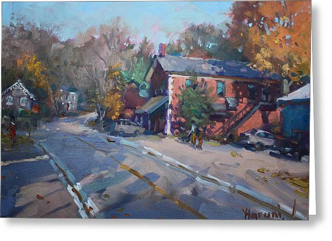 Copper Kettle Pub In Glen Williams On Greeting Card by Ylli Haruni