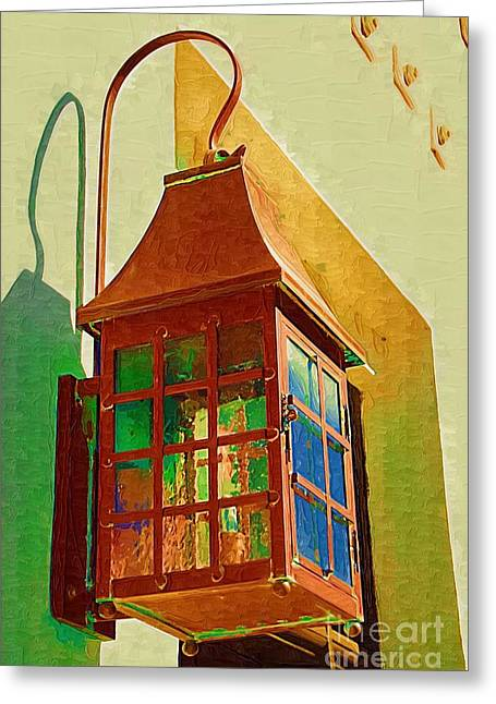 Copper Lantern Greeting Card
