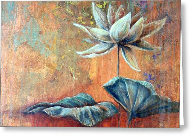 Copper Lotus Greeting Card