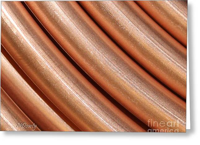 Copper Pipes Greeting Card