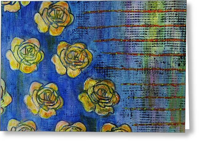 Copper Roses Greeting Card by Desiree Paquette