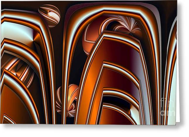 Copper Shields Greeting Card by Ron Bissett