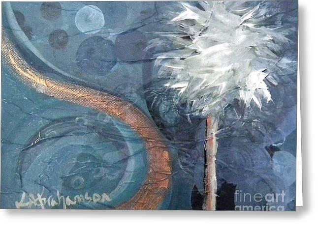 Copper Swirl Horizon Palm Greeting Card