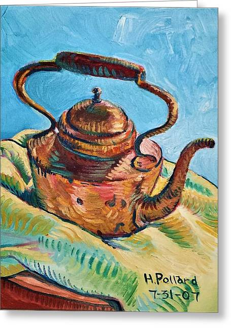 Copper Teapot Greeting Card