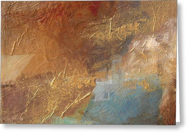 Copper Turquoise Abstract Greeting Card