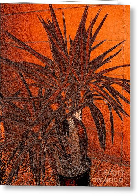 Copper Yucca Greeting Card by Marsha Heiken