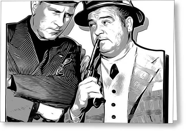 Cops And Robbers Greeting Card by Greg Joens