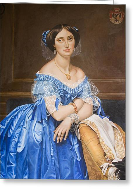 Copy After Ingres Greeting Card