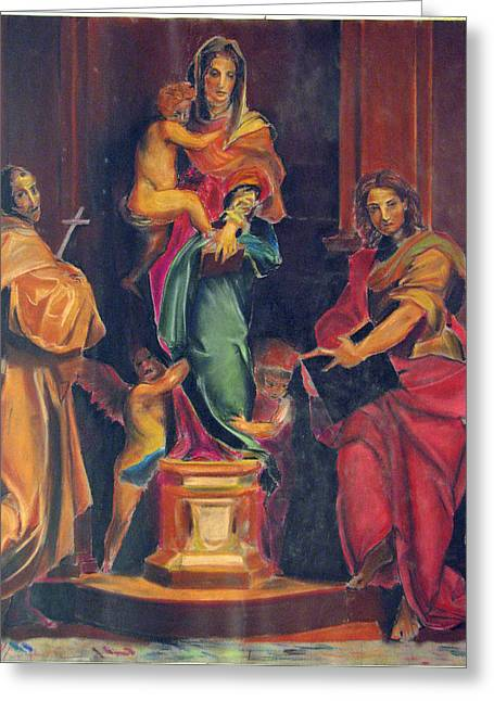 Andrea Drawings Greeting Cards - Copy of Andrea del Sarto Greeting Card by Christopher Kull