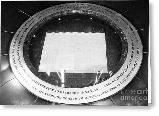 copy of arthur guinness's 9000 year lease in the guinness storehouse dublin Ireland Greeting Card