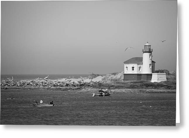 Coquille River Light Greeting Card by Ralf Kaiser
