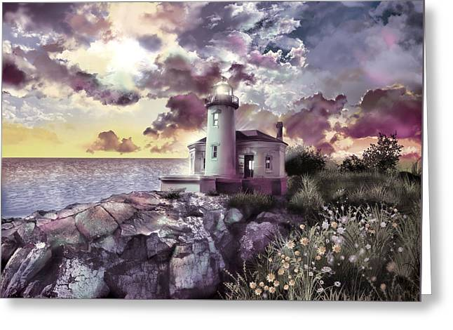 Coquille River Lighthouse 2 Greeting Card