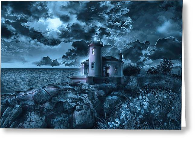 Coquille River Lighthouse 3 Greeting Card