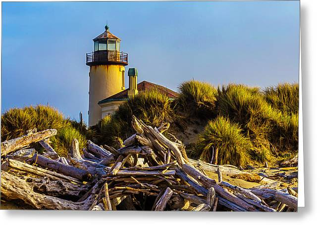 Coquille River Lighthouse Greeting Card by Garry Gay