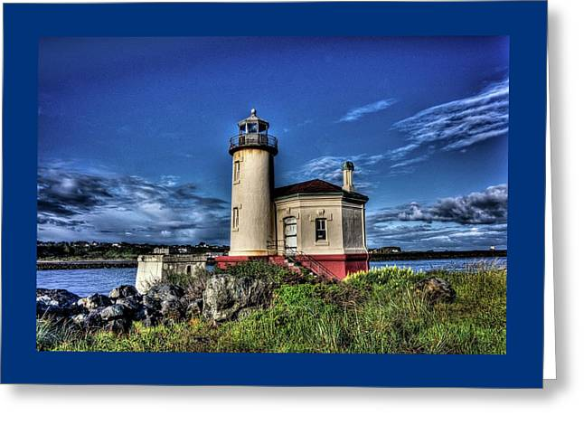 Greeting Card featuring the photograph Coquille River Lighthouse by Thom Zehrfeld