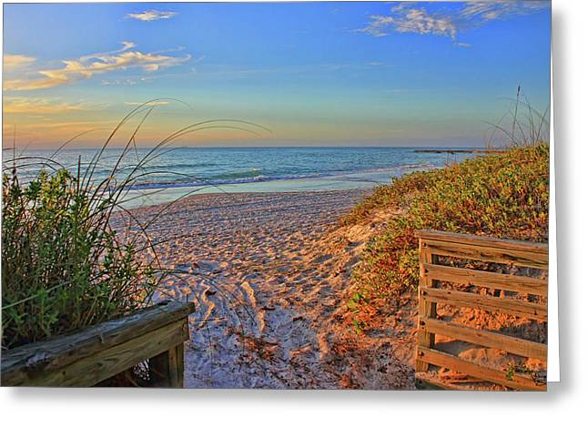 Coquina Beach By H H Photography Of Florida  Greeting Card by HH Photography of Florida