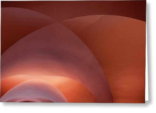 Coral Arched Ceiling Greeting Card
