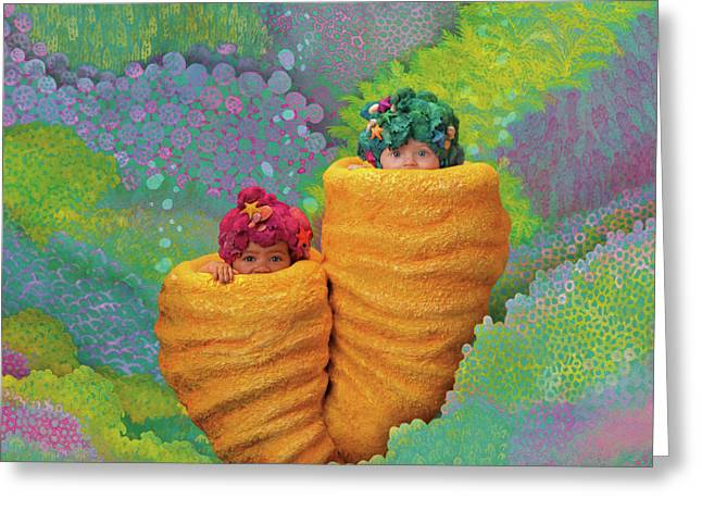 Coral Babies Greeting Card