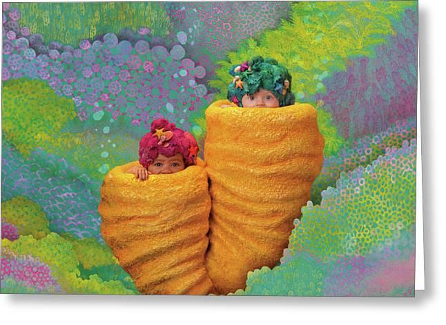Coral Babies Greeting Card