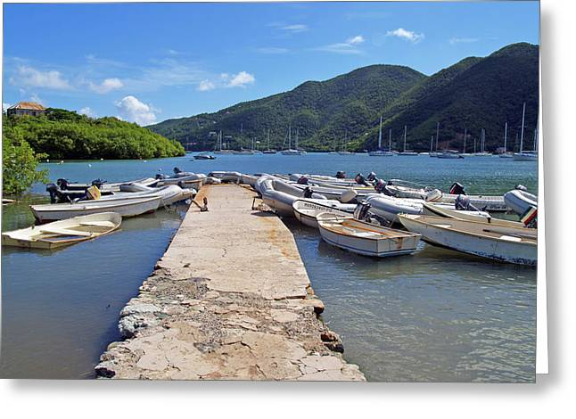 Coral Bay Dinghy Dock Greeting Card