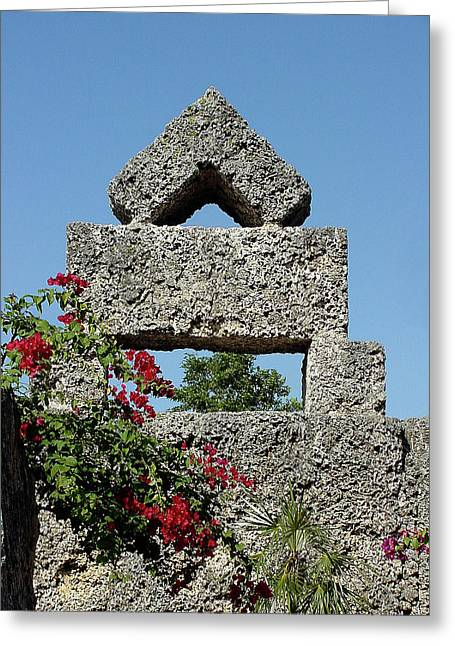 Coral Castle For Love Greeting Card by Shirley Heyn