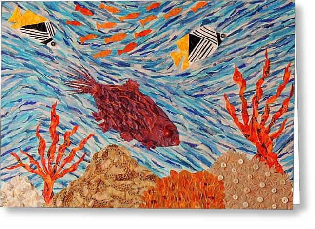 Coral Reef Currents Greeting Card