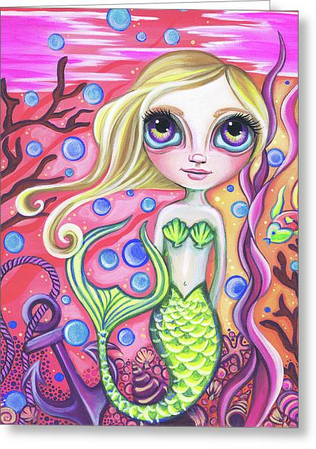 Coral Reef Mermaid Greeting Card