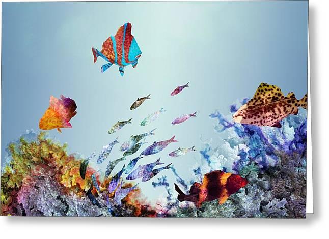 Coral Reef Greeting Card by Varpu Kronholm