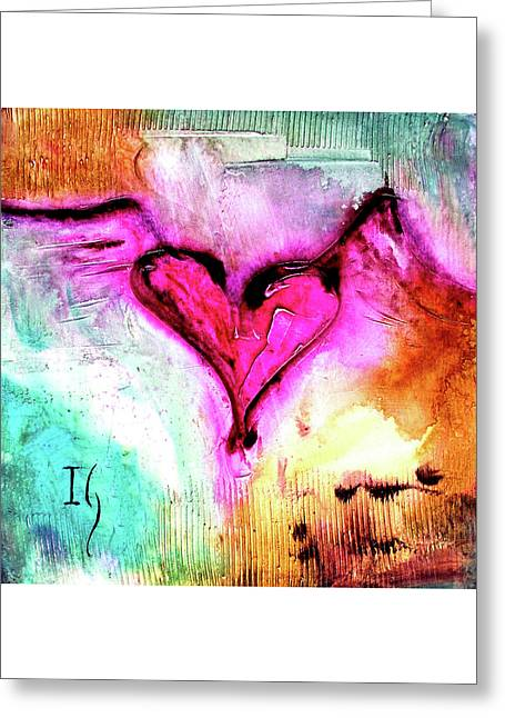 Corazon Rosa Greeting Card