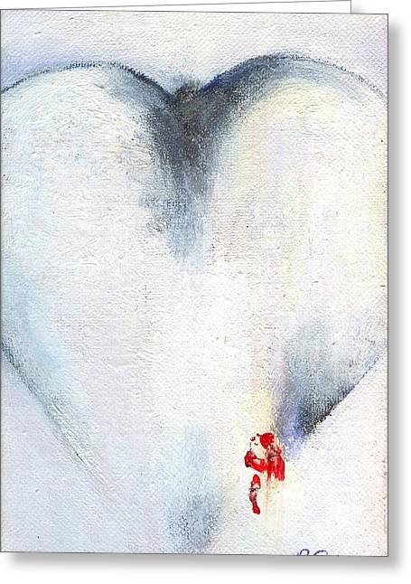 Corazones De Un Bobo One Greeting Card by Ricky Sencion