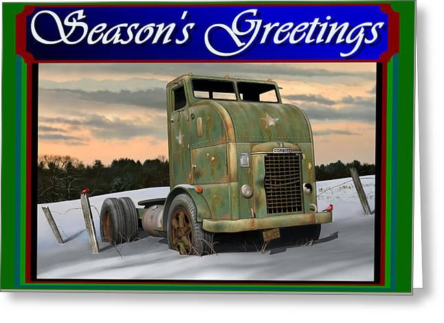 Corbitt Christmas Card Greeting Card by Stuart Swartz