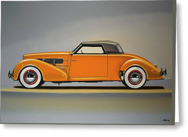Cord 810 1937 Painting Greeting Card by Paul Meijering