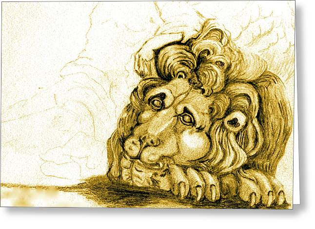 Cordoba Lion Greeting Card by Dan Earle