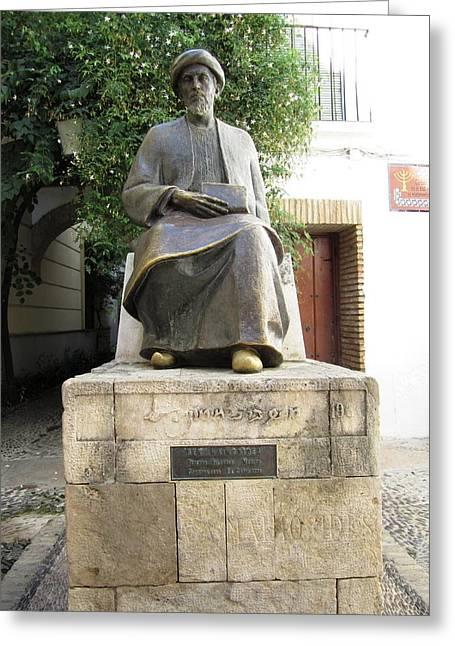 Cordoba Maimonides Statue Or Moses Ben Maimon Aka Rambam Jewish Quarter Viii Spain Greeting Card