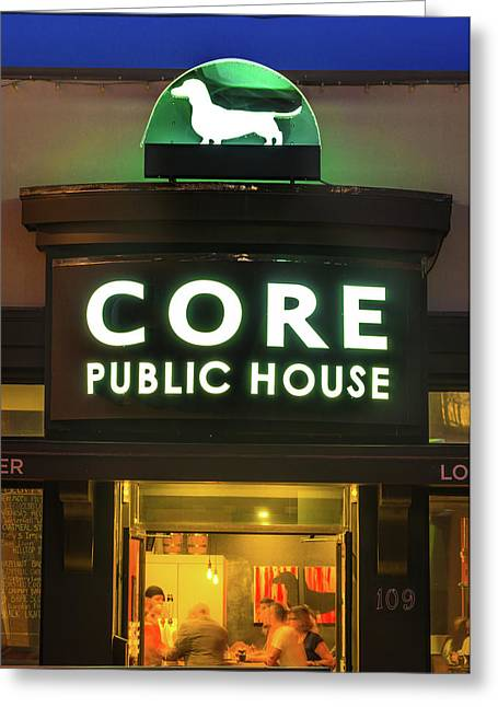 Core Brewery Public House - Downtown Bentonville Greeting Card by Gregory Ballos