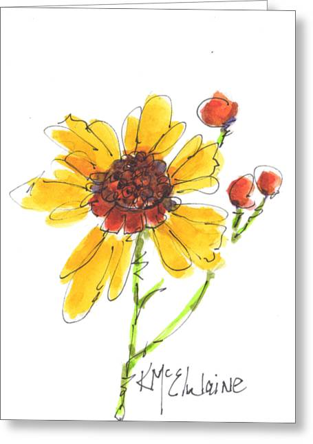 Coreopsis By Kathleen Mcelwaine Greeting Card