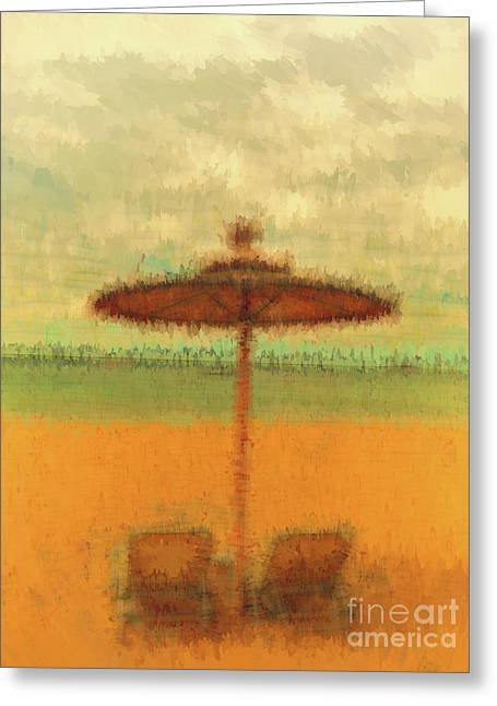 Greeting Card featuring the photograph Corfu 18 - Mirage by Leigh Kemp