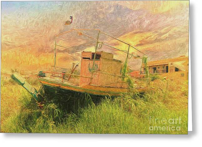 Greeting Card featuring the photograph Corfu 25 High And Dry by Leigh Kemp