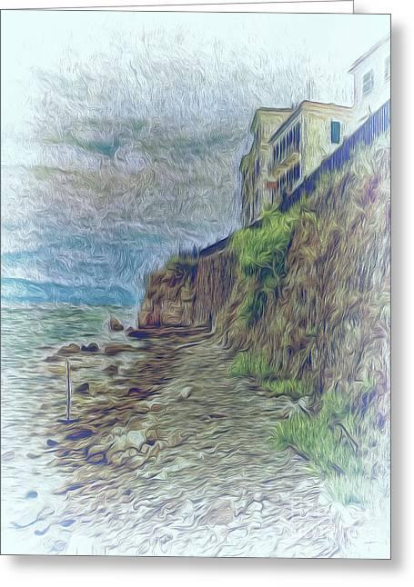 Greeting Card featuring the photograph Corfu 33 - Corfu Rocks by Leigh Kemp