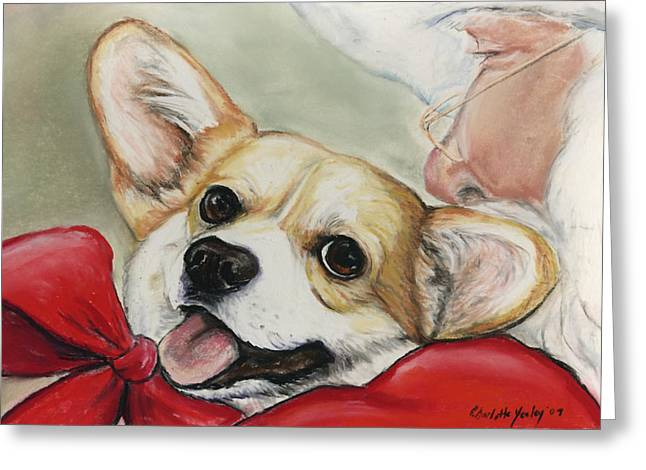 Corgi For Christmas Greeting Card
