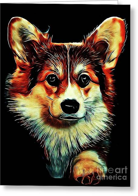 Corgi Portrait Greeting Card