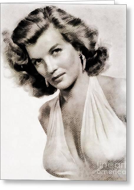 Corinne Calvet, Vintage Actress Greeting Card