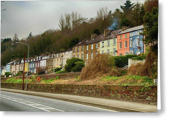 Cork Row Houses Greeting Card by Marie Leslie