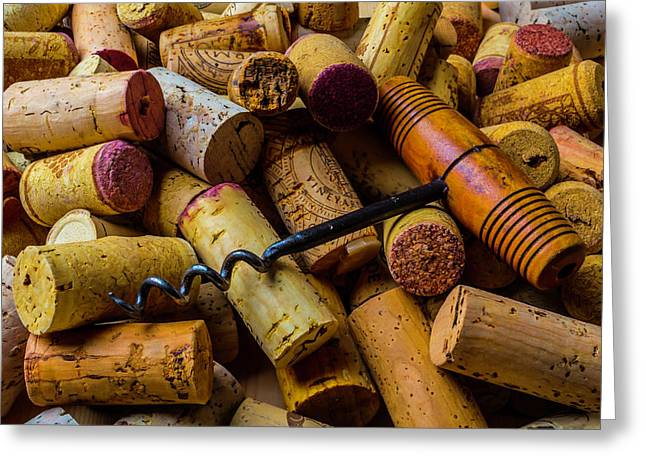 Corks And Corkscrew Greeting Card