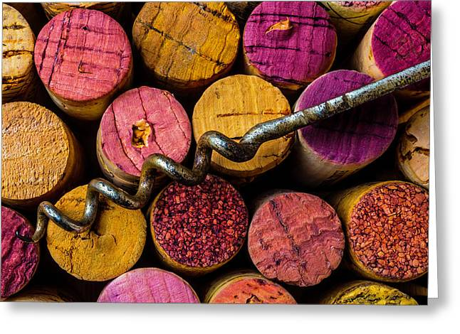 Corkscrew Close Up Greeting Card by Garry Gay