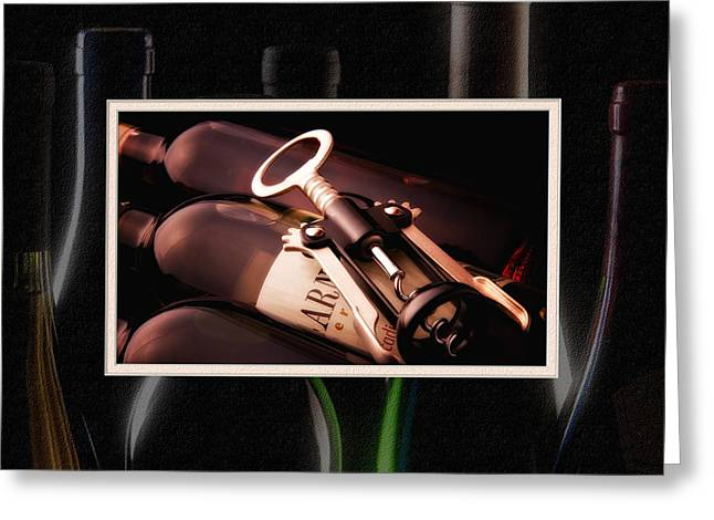 Corkscrew Matted Greeting Card by Tom Mc Nemar